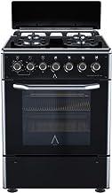 ALPHA Cocina de Gas VULCANO ELITE-60 Cristal Negro.