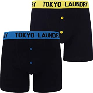 Tokyo Laundry Męskie bokserki w paski, dwupak