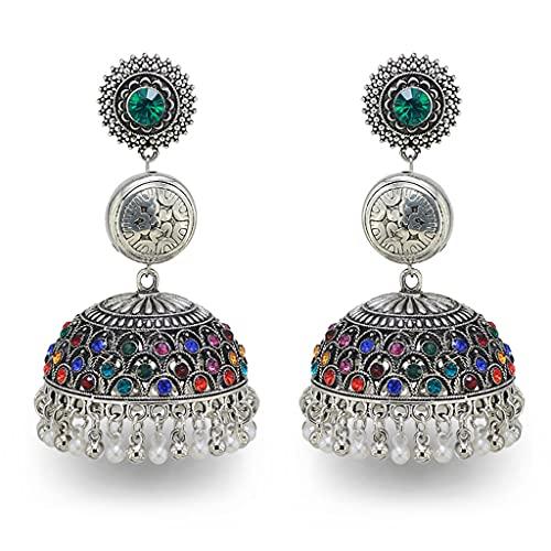 VVXXMO Pendientes de gota de campanas de borla bohemia,Joyería étnica india