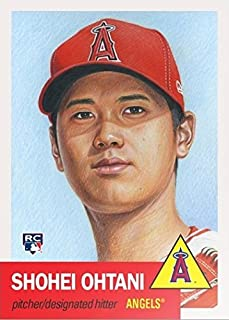 2018 Topps Living Set #7 Shohei Ohtani Baseball Rookie Card Los Angeles Angels - Only 20,966 made!