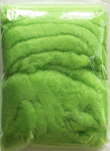 COLOR- WATTE, Farbwatte, farbige, bunte Dekowatte. 150g grün Art.12025 MAIGRÜN
