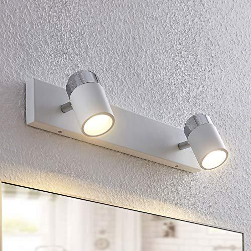 Lindby Strahler 'Kardo' (Modern) in Weiß aus Metall u.a. für Badezimmer (2 flammig, GU10, A++) - Deckenlampe, Deckenleuchte, Lampe, Spot, Badezimmerleuchte