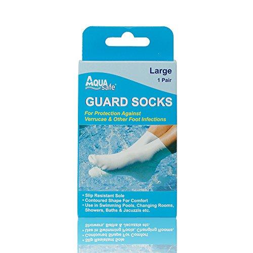 AquaSafe Guard Socks zum Schwimmen gegen Warzen–Groß–Größe 39-42,5