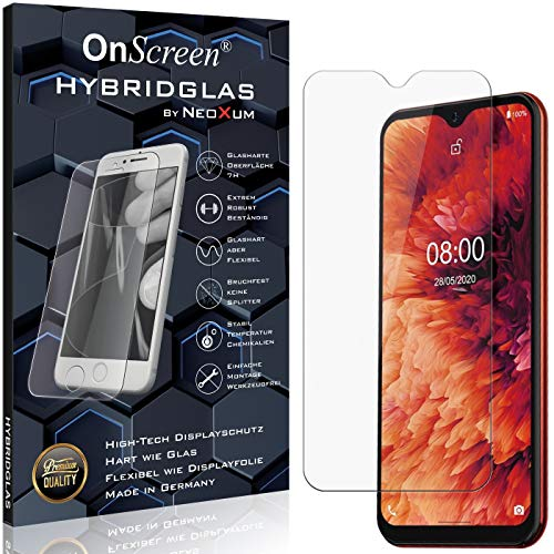 OnScreen Schutzfolie Panzerglas kompatibel mit Ulefone Note 8P Panzer-Glas-Folie = biegsames HYBRIDGLAS, Bildschirmschutzfolie, splitterfrei, MATT, Anti-Reflex - entspiegelnd
