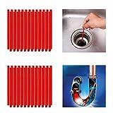 Qisiewell Abflussreiniger Sticks 50 Stück Rot...