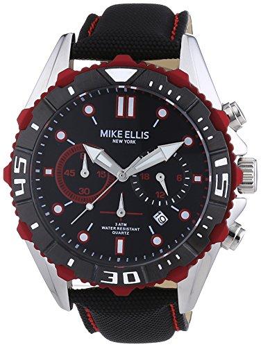 Mike Ellis New York Herren-Armbanduhr XL Chronograph Quarz Kunstleder 17988/1