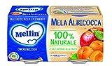 Mellin Omogeneizzato Di Frutta Mela Albicocca 100% Naturale – 24 Vasetti da 100 gr...