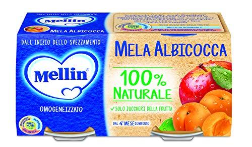 Mellin Omogeneizzato Di Frutta Mela Albicocca 100% Naturale – 24 Vasetti da 100 gr