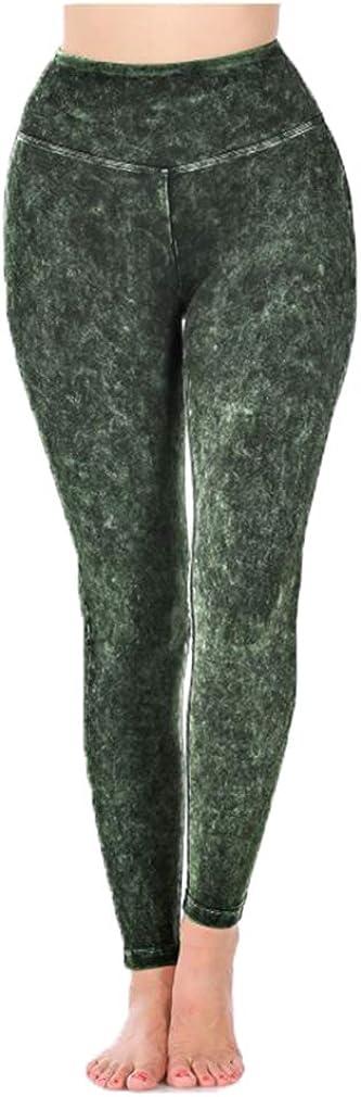 T-party & Zenana Regular Size Fit Mineral Washed Foldover Leggings CJ72219