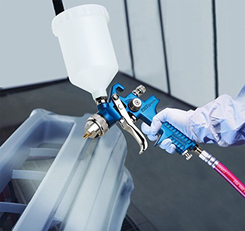 PNTGREEN HVLP Spray Gun with 1.4 mm Tip for Base Coats, Metallic Paint, Whole Car Spraying. Professional Series by PNTGREEN Air Tools, 20 oz,600cc (Free Spray Gun Keychain)