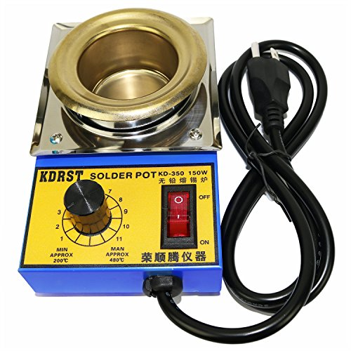 Twinkle Bay 50 mm Lead Free Solder Pot with 500 g Capactity for Welding and Soldering Bath 110 V 150 W