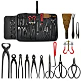 Voilamart Bonsai Tools Kit 14 pezzi Set acciaio al carbonio Scissor Cutter Shear Wire con ...