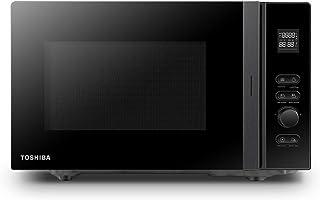TOSHIBA Four à Micro-ondes 800w 20L, 12 Cuissons Préprogrammées, Cavité Émaillée Facile à Nettoyer, Décongélation Poids/Te...