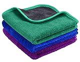 Mayouth - Toallas de Microfibra para Limpieza de Coches, superabsorbentes, de Felpa, Gruesas, para pulir el Coche, 600 g/m²