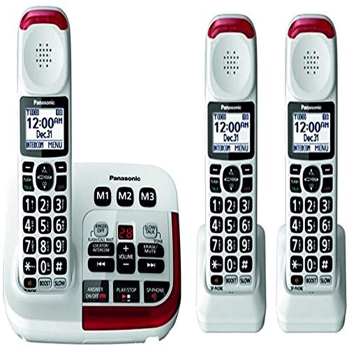 Panasonic KX-TGM420W Amplified Cordless Phone (3 Handsets)