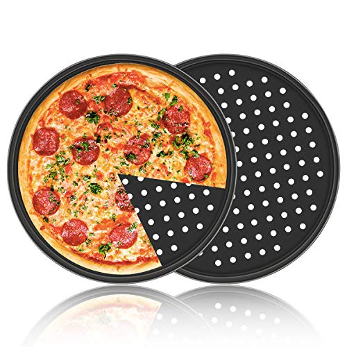 Pizza Pan with Holes, 2 Pack