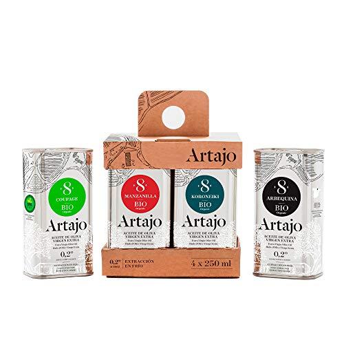 Artajo 8 Aceite de Oliva Virgen Extra Ecológico 4 variedades x 250...