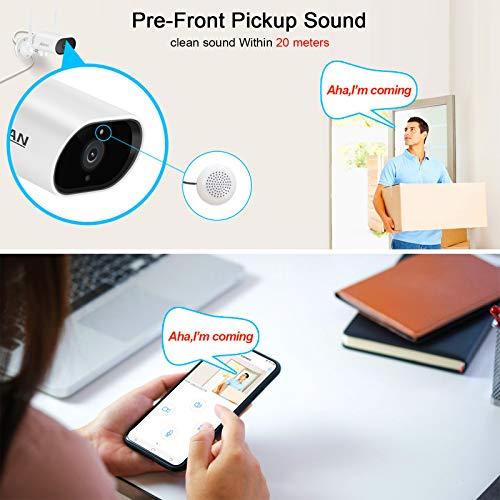 ANRAN IP Überwachungskamera 5MP HD WLAN Schwenkbare Kamera Innen Außen Zwei-Wege-Audio mit Nachtsicht und Humanoide Erkennung 4X Elektronischer Zoom Fernzugriff Vorinstallierte 32GB SD-Karte