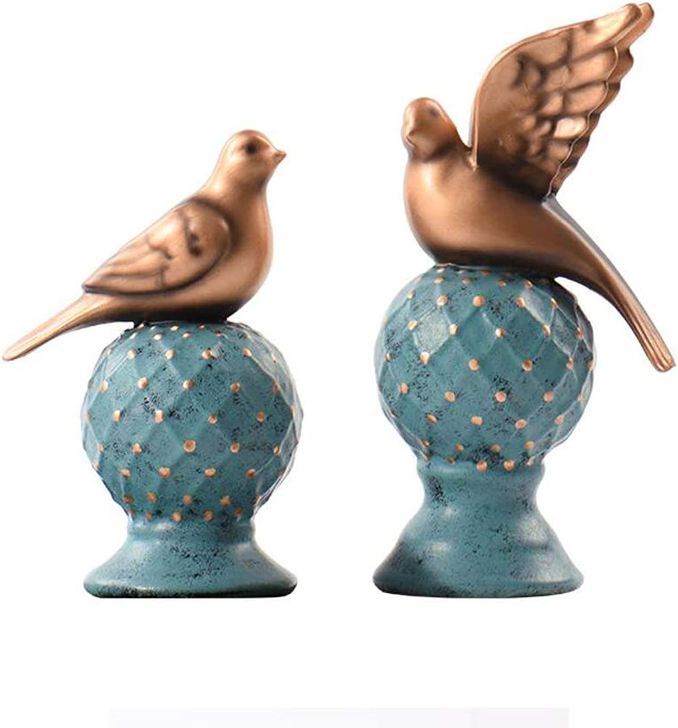 TIDLT Decoración De Pájaños Pequeos, Decoración De Escritorio De Resina (2 Piezas) (Color   Bird Ornament (2 Pieces))