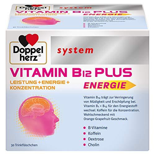 Doppelherz system VITAMIN B12 PLUS – Vitamin B12 trägt zur Verringerung von Müdigkeit und Erschöpfung bei und unterstützt die normale Funktion des Nervensystems – 30 Trinkfläschchen