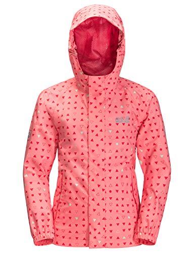Jack Wolfskin Unisex Kinder Tucan Dotted Jacket Kids Jacke, Apricot Coral All Over, 140