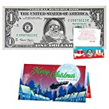 Official Santa Claus $1 Dollar. Removable Santa Seal on Real USD Stocking Stuffer (1)