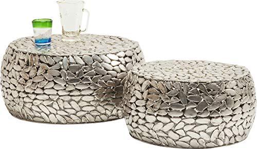Kare Design Tavolino, Argento, 30 x 66 x 66 cm