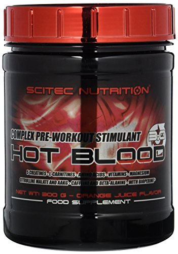 Scitec Nutrition Pre-workout  Hot Blood, Orange Juice, 300 g
