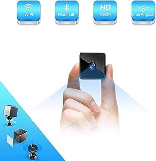 Mini Camara Espia Oculta Bluetooth MHDYT WiFi HD 1080P Cámara Vigilancia Portátil con Altavoz Bluetooth Sensor Movimiento Visión Nocturna IP Camara Seguridad Inalambrica Micro Interior/Exterior