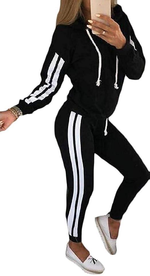 スピン人差し指送った女性カジュアルスポーツ2個スウェットシャツとジョガーパンツフーディコントラストトラックスーツスポーツ衣装 1 X-Small