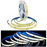 Tesfish Tira de luz LED, Tiras de Luces COB DC 24V 5M 320 LEDs / M Total 1600 LEDs Blanco 6000K Luz de Neón Flexible Súper Brillante para Fiestas, Mostradores, Estantes, Decoración del Hogar