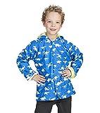 Hatley Boys Printed Rain Jacket, Blue (Dinosaur Menagerie), 2 Years
