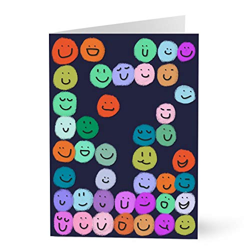 Hallmark Employee Appreciation Cards (Colorful Smiley Faces) (Pack of 25 Greeting Cards)