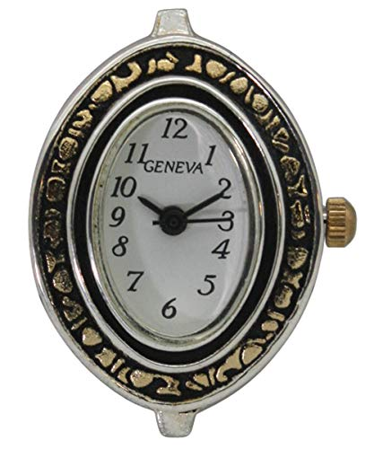 Fashion Watch Wholesale Geneva Oval Shape Two Tone Ladies Watch Case with Beading Holes