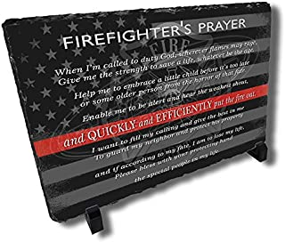 Dicksons The Firefighters Prayer Bright Blue Wings 14 x 9 Wood Wall Sign Plaque