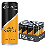 Organics by Red Bull Black Orange - 12er Palette Dosen Getränke Bio, EINWEG (12 x 250 ml)