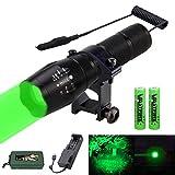 VASTFIRE 350 Yard Zoomable Green Flashlight Kit...