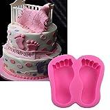 september-europe Baby Fuß Kuchen Dekoration Schimmel, DIY Fonday Silikon Form für homecraft...