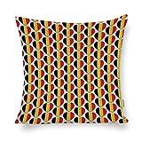 Promini I Love Belgium Belgian Flag Hearts Cotton Linen Blend Throw Pillow Covers Case Cushion Pillowcase with Hidden Zipper Closure for Sofa Bench Bed Home Decor 20'x20'