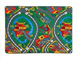 LucaHome – Alfombra Infantil Carretera, Juegos, Ciudad, alcolchada   Alfombra Infantil Plegable   Alfombra Juegos Circuito Coches con Base Antideslizante   Alfombra Carretera Coches 100 x 140cm