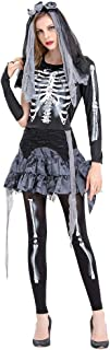 GREFER Halloween Costumes for Women Zombie Bride Cosplay Gothic Dress 1 PC Women Dress+Pants+Headwear