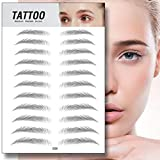 4D Hair-like Authentic Eyebrow, Nourich Imitation Ecological Lazy Natural Tattoo Eyebrow Stickers, Grooming...