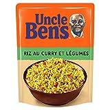 UNCLE BEN'S Riz au curry et légumes - Express 2 min au micro-onde ou à la poêle - 250 g