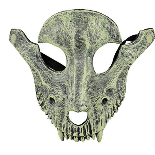AmsofunHalloween máscara de fiesta de ovejas cráneo cubierta máscara Cosplay cara completa terrible espantoso máscaras mascarada decoración de fiesta (gris)