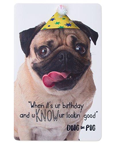 American Greetings Birthday Card for Kids (Doug the Pug)