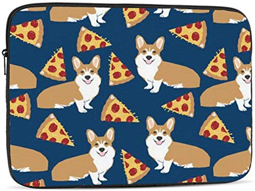 Corgi Pizza Laptop Sleeve 10,12,13,15,17 inch, Shock Resistant Notebook Briefcase, Computer Protective Bag, Tablet Carrying Case for MacBook Pro,etc.