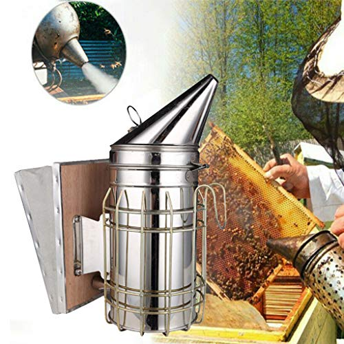 95sCloud Bienen Smoker Imkereibedarf Rauchgerät Bienenzucht bee Beekeeping Imkereibedarf Manuelle Edelstahl Imkerei Biene Raucher Anlagen und Bee Hive Smoker Bienenzucht Raucher Imker & Werkzeuge