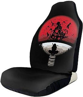 Sitzbezüge Set mit Anime Uchiha Clan Itachi Logo Naruto, universelle Passform, dekorativ, für Fahrzeuge, Autos, SUVs, Vans, Airbag kompatibel