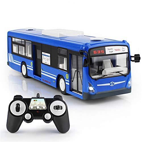 Remote Control Bus Toy Model Car Minicar Diecast Car 6 Channels Remote Control Bus Verstelbare Deur Te Openen LED Light PL