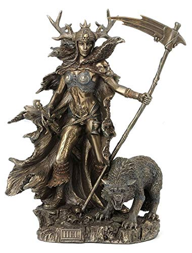 10.5 Inch Hel Statue Goddess of the Norse Underworld Mythology Sculpture